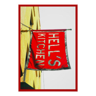 """Hell's Kitchen Flag"" New York City Collection Poster"