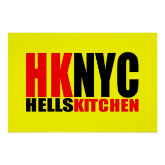 Hell's Kitchen New York City Logo Poster