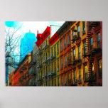 """""""Hells Kitchen Street"""" by Urban Gorilla ArtWorks  Poster"""