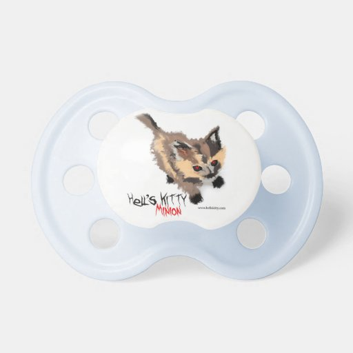Hell's Kitty Minion BooginHead Pacifier