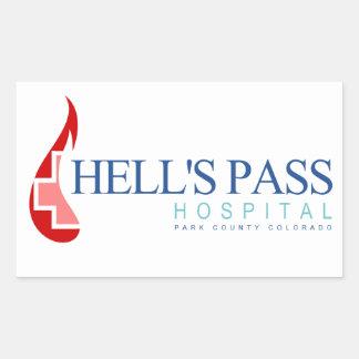 Hell's Pass Hospital, Park County CO Rectangular Sticker
