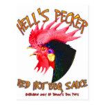 Hell's Pecker BBQ Sauce Post Card