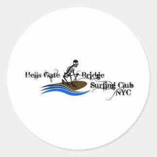 HellsGateBridgeSurfingClub Pegatinas Redondas