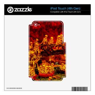 Hellsville Skeletons Vintage Terror Horror Hell Skin For iPod Touch 4G