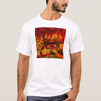 Hellsville Skeletons Vintage Terror Horror Hell T-Shirt