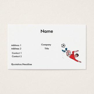 helluva soccer kick business card