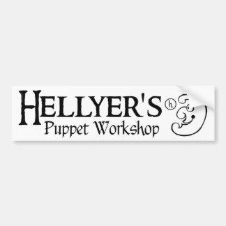 Hellyer's Puppet Workshop Bumper Sticker Car Bumper Sticker