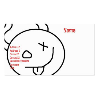 hellz yes lil devil biz-ness card 2 Double-Sided standard business cards (Pack of 100)
