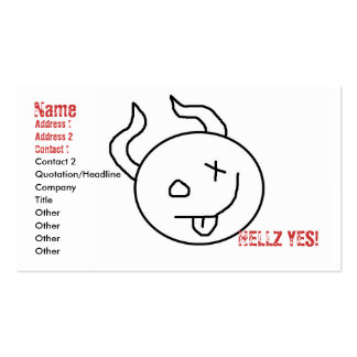 hellz yes lil devil biz-ness card Double-Sided standard business cards (Pack of 100)