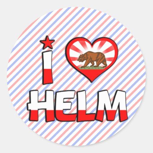 Helm, CA Classic Round Sticker