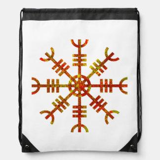 Helm Of Awe Norse Viking Symbol Drawstring Backpack