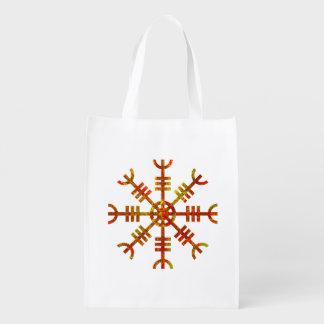 Helm Of Awe Viking Symbol Grocery Bag