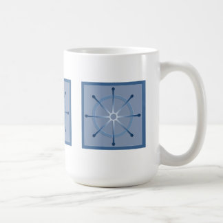 Helm Ship Wheel Blue Mugs