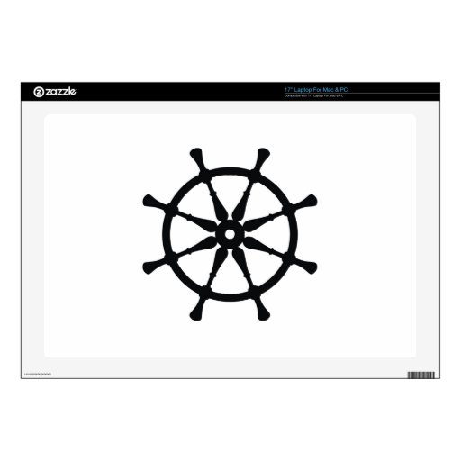 """Helm Silhouette 17"""" Laptop Decals"""