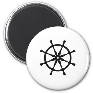 Helm Silhouette 2 Inch Round Magnet