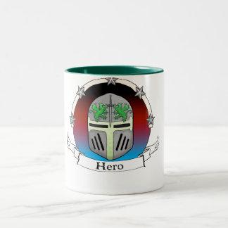 helm star badge Two-Tone coffee mug