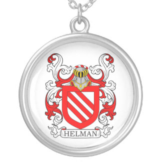 Helman Coat of Arms Silver Plated Necklace