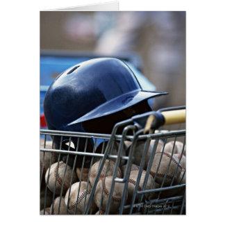 Helmet and Baseball Ball Card