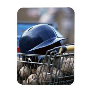 Helmet and Baseball Ball Magnet