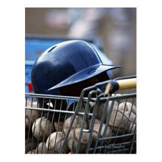 Helmet and Baseball Ball Postcard