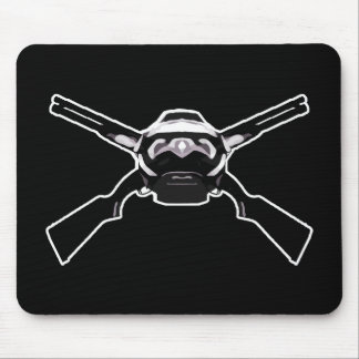 Helmet and cross guns mouse pad
