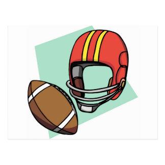 helmet and football postcard