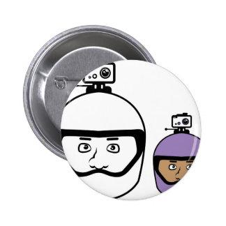 Helmet Camera Pinback Button