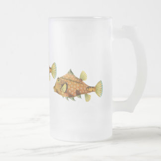 Helmet Cowfish Frosted Glass Beer Mug