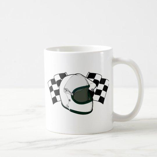 Helmet & Flags Coffee Mug
