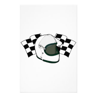 Helmet & Flags Personalized Stationery
