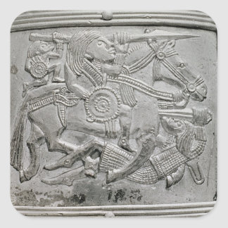Helmet fragment, from Sutton Hoo Treasure Square Sticker