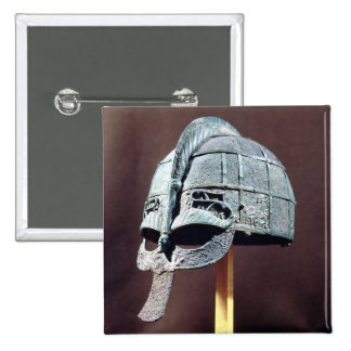 Helmet, from the Vendel Treasure Pinback Button