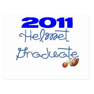 Helmet Grauate Boy and Girl 2010, 2011, & 2012 Postcard