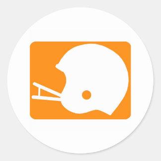 helmet logo classic round sticker