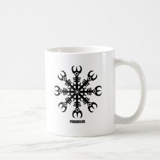 Helmet of awe - Aegishjalmur No.2 (black) Classic White Coffee Mug