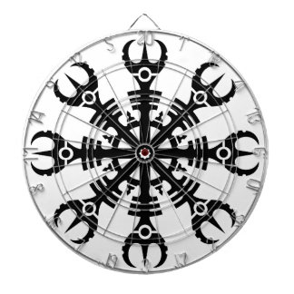 Helmet of awe - Aegishjalmur No.2 (black) Dartboard