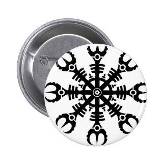 Helmet of awe - Aegishjalmur No.2 (black) Pinback Button