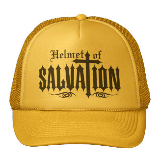 Helmet of Salvation Trucker Hats