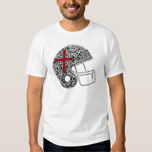 Helmet--red and black (Zazzle) T-Shirt
