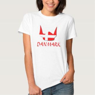 Helmet Viking Flag Denmark Danmark Design Tee Shirt
