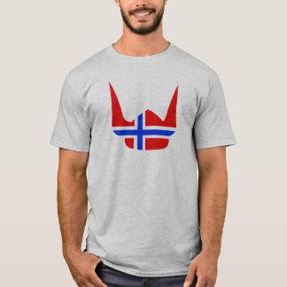 Helmet Viking Flag Norway Design T-Shirt