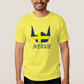 Helmet Viking Flag Sweden Sverige Design T-shirts