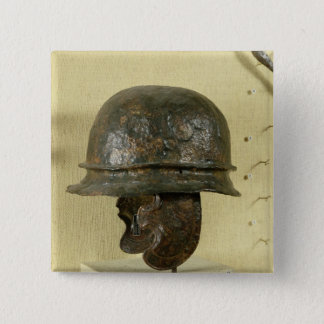 Helmet with cheek guards, from Alesia, Tene III Button