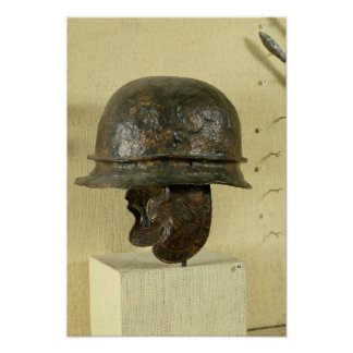 Helmet with cheek guards, from Alesia, Tene III Poster