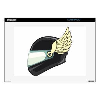 Helmet with wings laptop skins