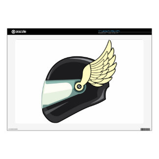 Helmet with wings skin for laptop
