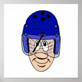 Helmet with wipers print