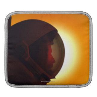 Helmeted Astronaut Against the Sun Sleeve For iPads