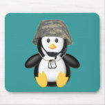 Helmeted Penguin Mouse Pads