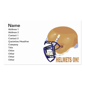 Helmets On Double-Sided Standard Business Cards (Pack Of 100)